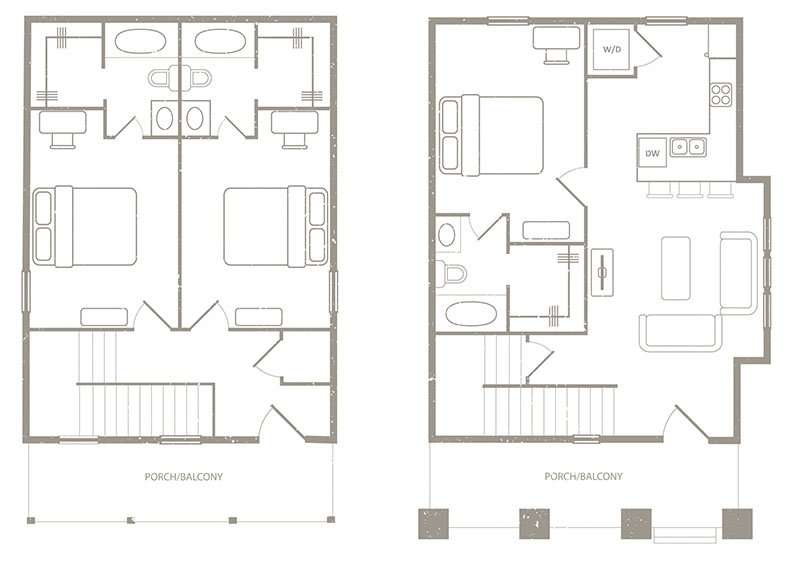 3 Bedroom 3 Bath Floorplan