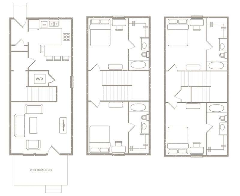 4 Bedroom 4 Bath Floorplan